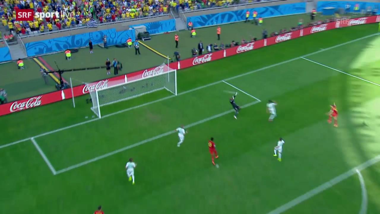 Fussball: Spielbericht Belgien - Algerien