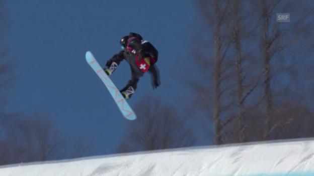 Video «Sotschi: Snowboard Slopestyle Männer, Qualifikation, 2. Lauf Jan Scherrer» abspielen