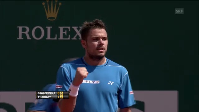 Tennis: ATP Monte Carlo, Wawrinka - Murray, Satzentscheidungen
