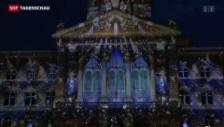 Video «Spektakuläre Lichtshow am Bundeshaus» abspielen