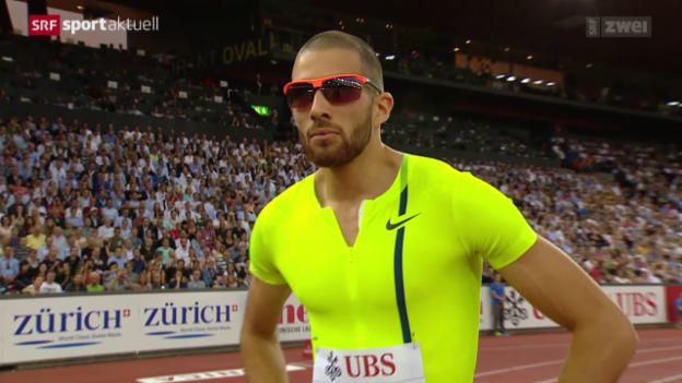 Video «Leichtathletik: Kariem Hussein vor Weltklasse Zürich» abspielen