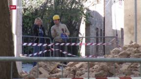 Video «Italien ein Tag nach dem Erdbeben » abspielen