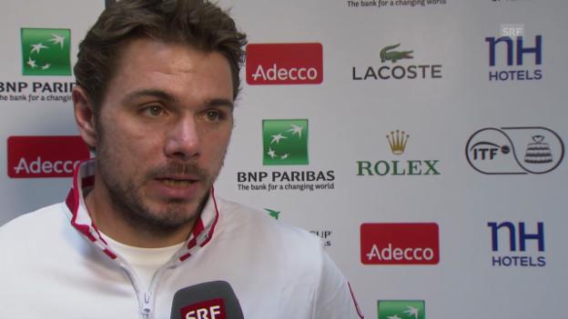 Video «Tennis: Interview mit Stan Wawrinka in Lille (französisch)» abspielen