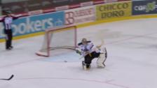 Video «Lugano-Genf: Merzlikins-Geste nach Shootout-Sieg» abspielen