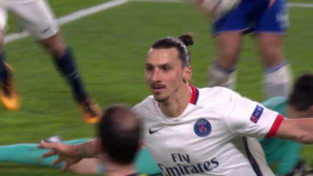 Video «PSG dank Ibrahimovic-Show im Viertelfinal» abspielen