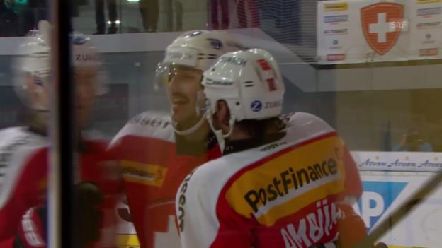 Video «Eishockey: Arosa Challenge, Schweiz - Norwegen» abspielen