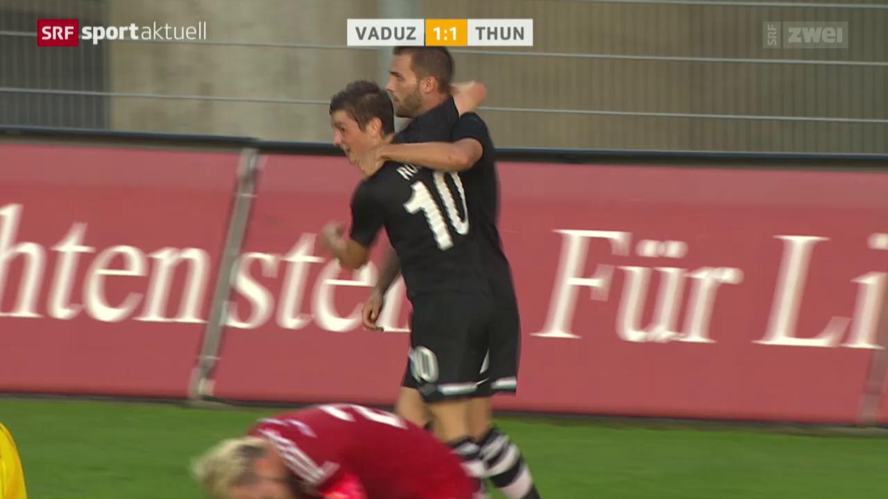 Fussball: EL, Vaduz-Thun