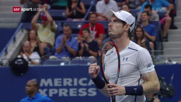 Video «Mit Teil-Schaulaufen: Murray steht in der 3. Runde» abspielen