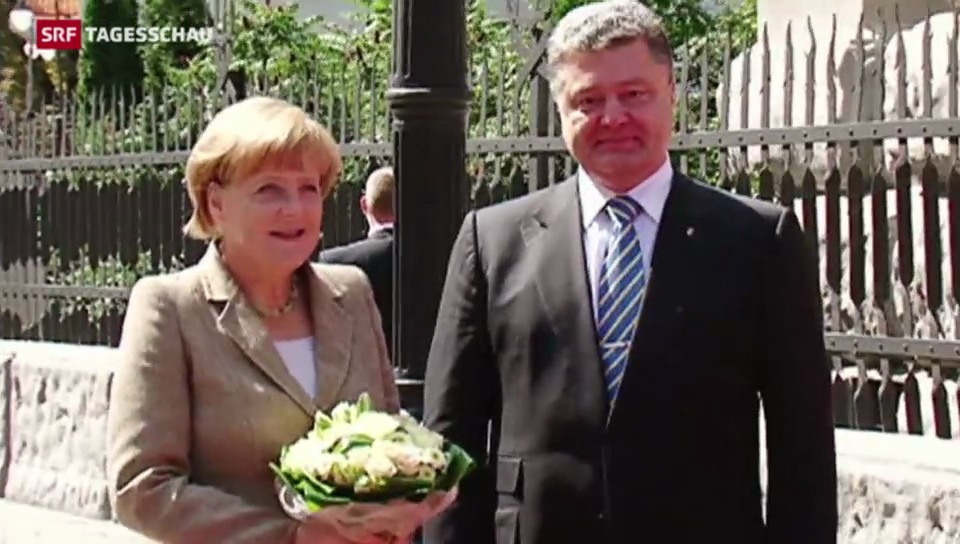 Angela Merkel in der Ukraine