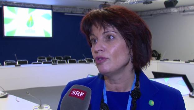 Video «Doris Leuthard zu den Ambitionen am Klimagipfel» abspielen