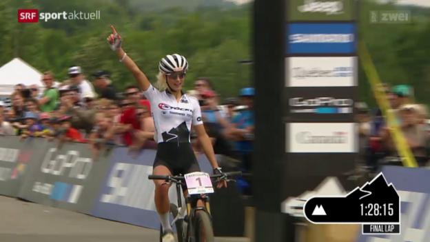 Video «Mountainbike: Weltcup in Mont-Sainte-Anne (Ka)» abspielen