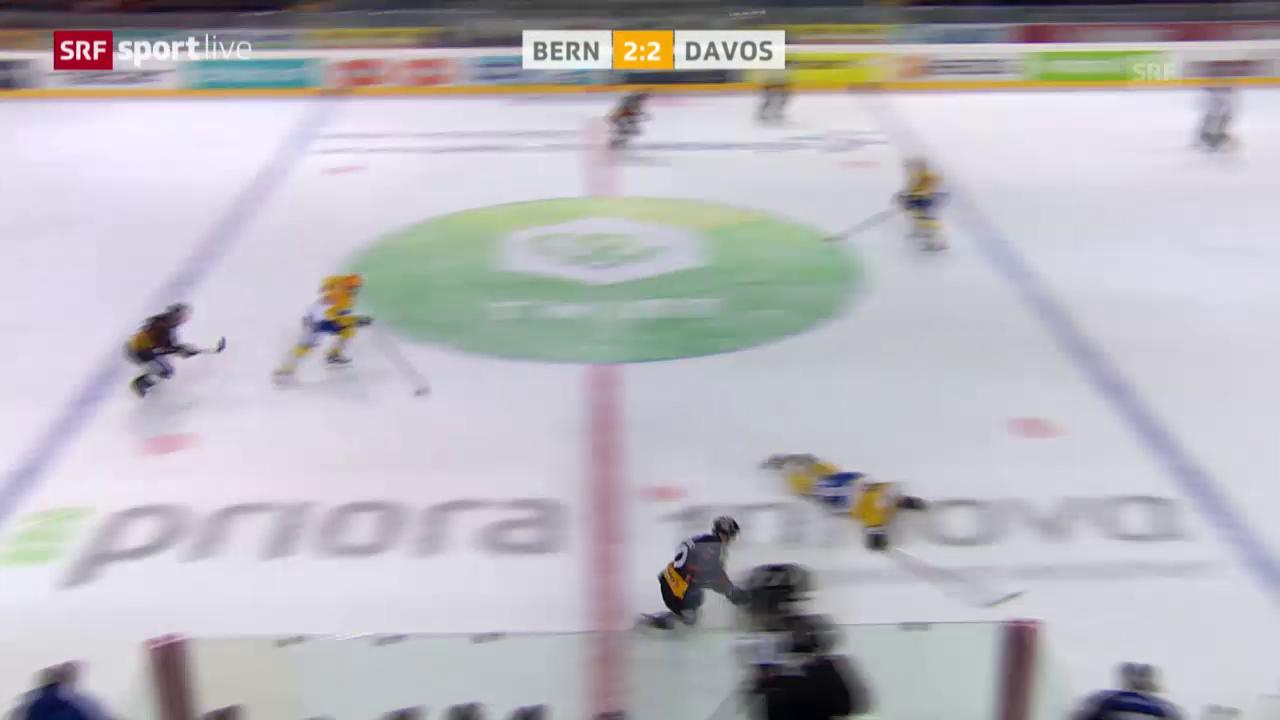 Bern siegt gegen Davos in der Verlängerung und erspielt sich 3 Matchpucks