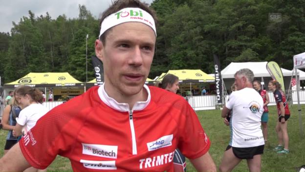 Video «Daniel Hubmann nach EM-Gold: «Super-Gefühl, Super-Rennen»» abspielen