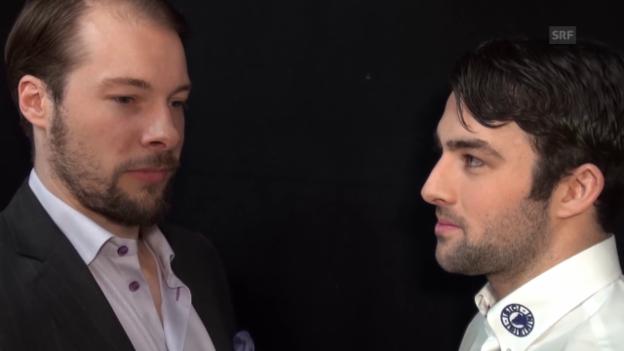 Video «Tête-à-Tête zwischen Robert Nilsson und Cory Conacher» abspielen