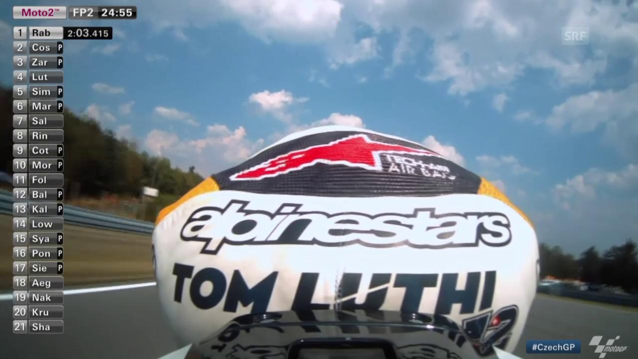 Motorrad: Lüthi beim Training in Brünn