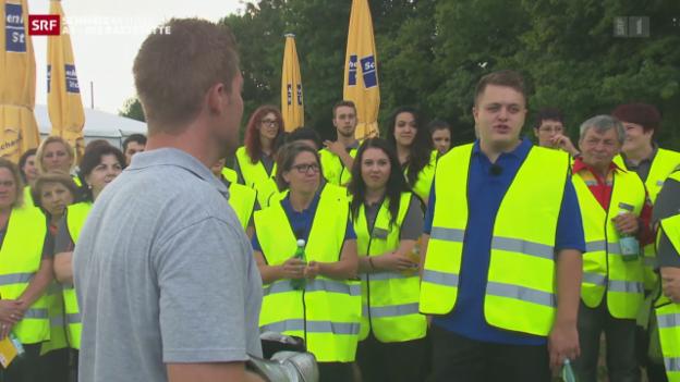 Video «Sicherheitstag auf der Raststätte & Crash-Test in Vauffelin» abspielen