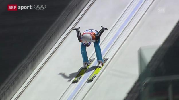 Video «Skispringen Frauen (sotschi aktuell, 11.02.2014)» abspielen