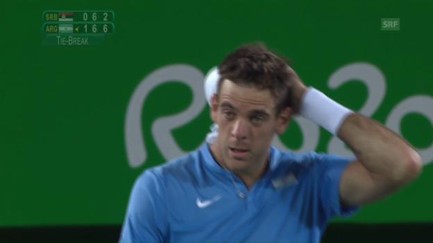 Video «Del Potro beendet früh Djokovics Olympiaträume» abspielen