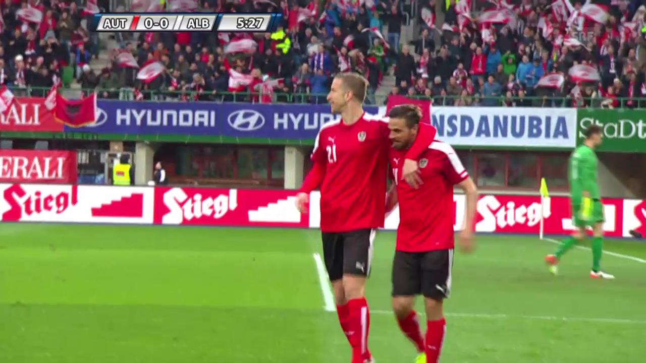 Die Tore bei Österreich - Albanien