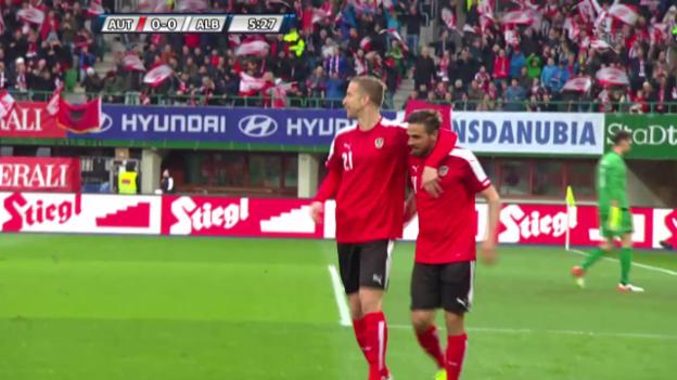 Video «Die Tore bei Österreich - Albanien» abspielen