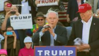 Video «Trump besetzt wichtige Posten» abspielen