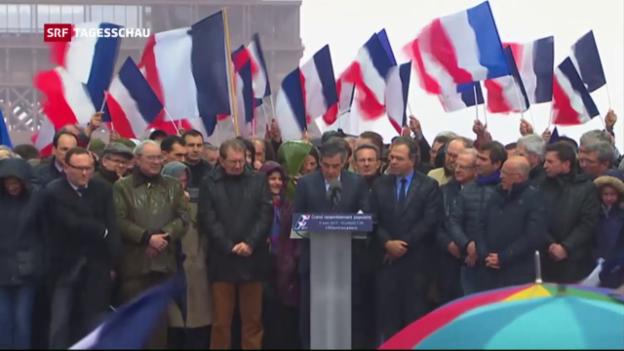 Video «Massenaufmarsch für Fillon» abspielen