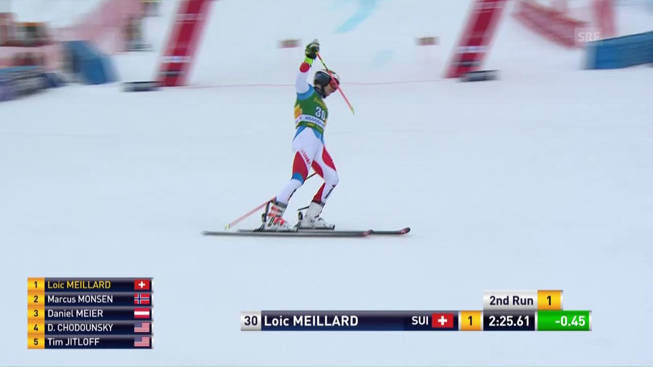 Der 2. Lauf von Loic Meillard