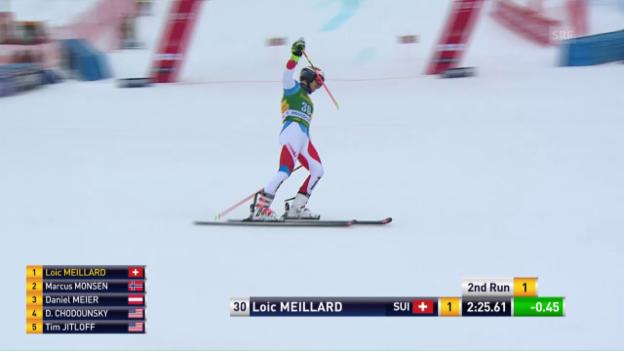 Video «Der 2. Lauf von Loic Meillard» abspielen