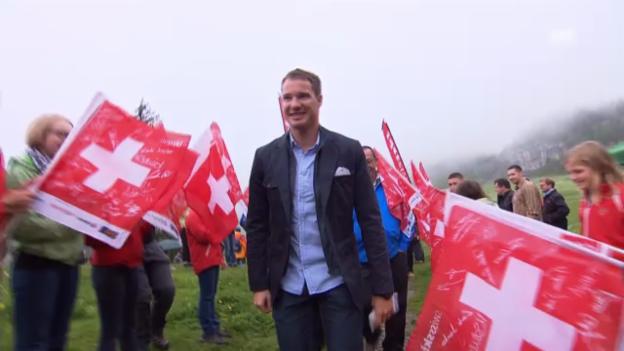 Video «Dario Cologna auf der Älggi-Alp» abspielen
