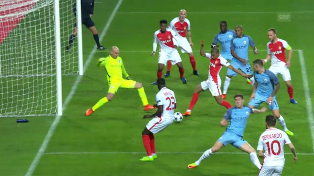 Video «Bernardo Silva bereitet Mbappes Tor gegen City vor» abspielen