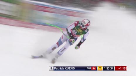 Video «Ski Alpin, Weltcup Männer, Super-G Saalbach, Fahrt von Küng» abspielen