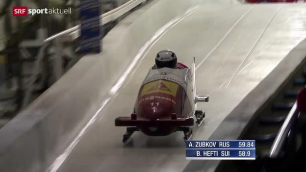Video «Bob: Zweier-Weltcup in Calgary» abspielen