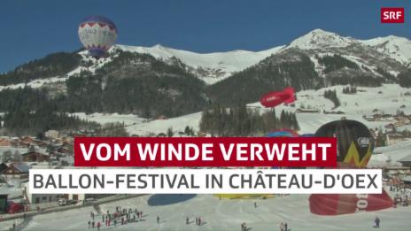 Link öffnet eine Lightbox. Video Ballon-Festival in Château-d'Oex abspielen