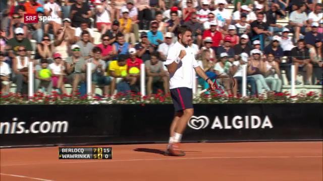 ATP Rom: Wawrinka - Berlocq («sportaktuell»)