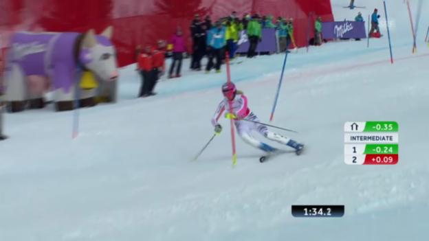 Video «WM-Slalom in Schladming: Zusammenfassung» abspielen