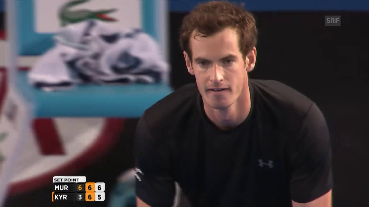 Tennis: Australian Open: Murray -Kyrgios, 2. Satzgewinn Murray