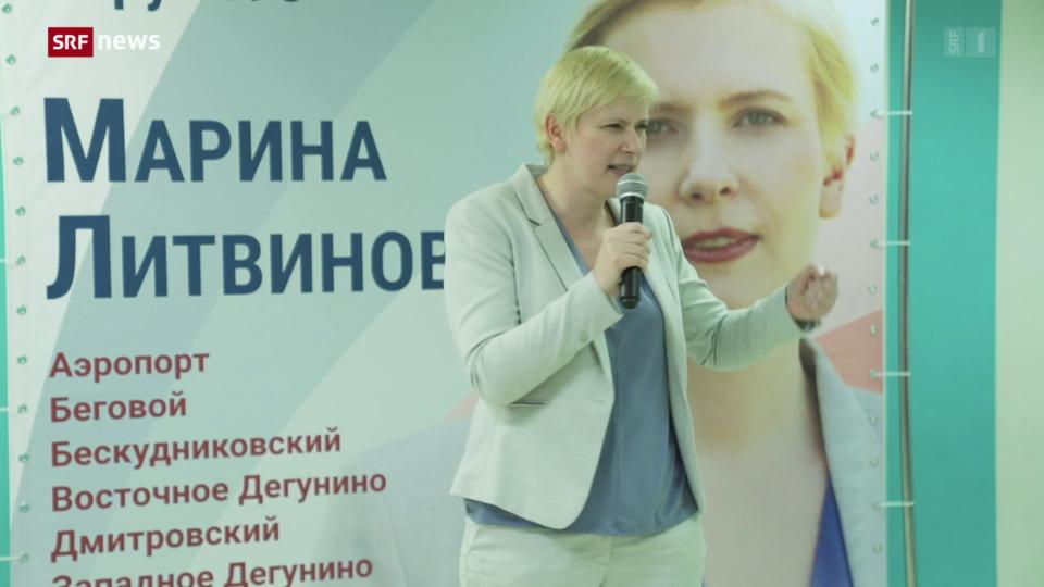 Wahlen in Russland: Die oppositionelle Kandidatin Marina Litvinovich