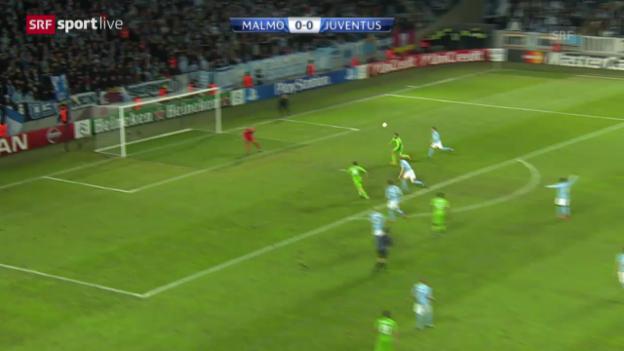 Video «Zusammenfassung Malmö-Juventus» abspielen