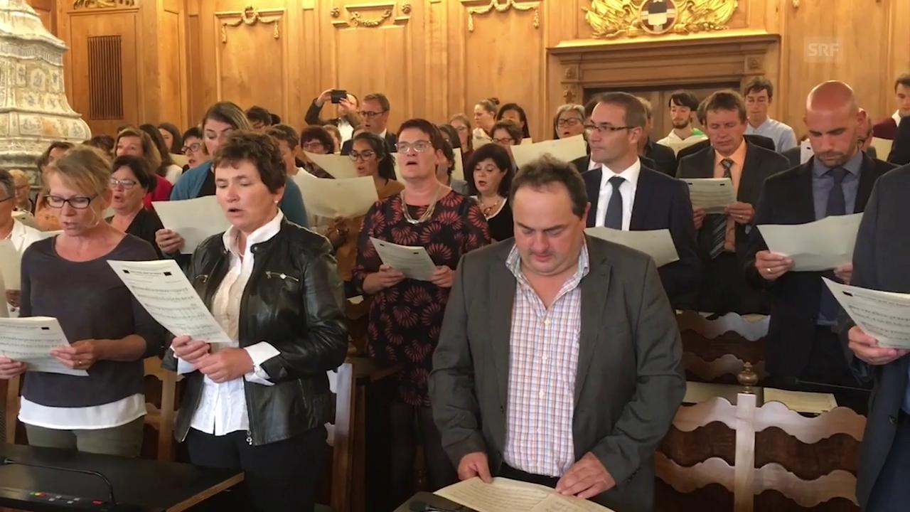 Der Grosse Rat Freiburg singt!