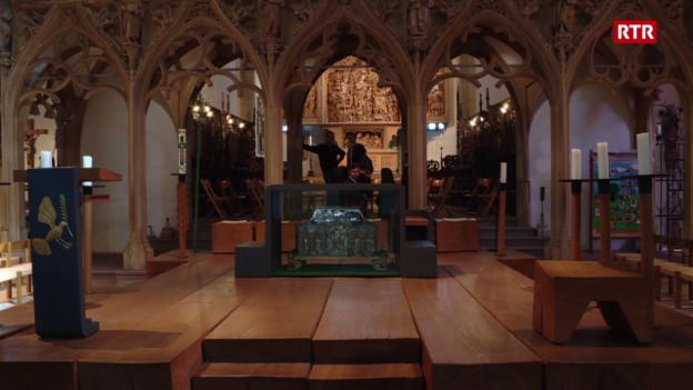 Laschar ir video «Preparativas per il concert en il Münster a Breisach (Freiburg)»