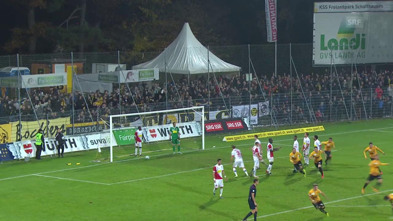 Fussball: Schweizer Cup 2015/16, Schaffhausen-Sion, Traumtor Bicvic zum 1:0