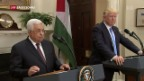Video «Palästinenserpräsident besucht US-Präsident» abspielen