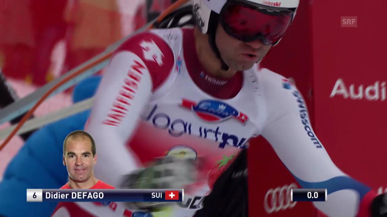 Ski: Abfahrt Wengen 2013, Fahrt von Didier Défago