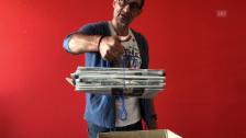 Video «Trick 77: Zeitungen bündeln mit Thomy Scherrer» abspielen