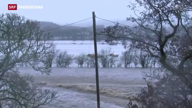 Video «Überschwemmungen in Grossbritannien» abspielen
