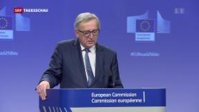 Video «Juncker kritisiert die Schweiz» abspielen
