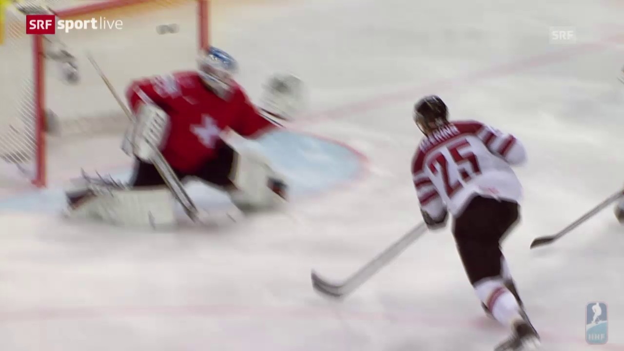 Eishockey-WM: Schweiz - Lettland, die Highlights
