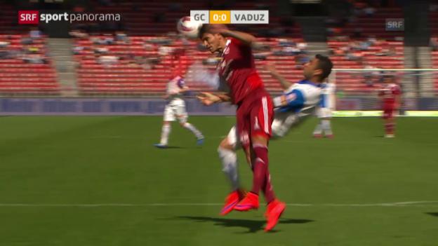 Video «Fussball: Super League, GC-Vaduz» abspielen