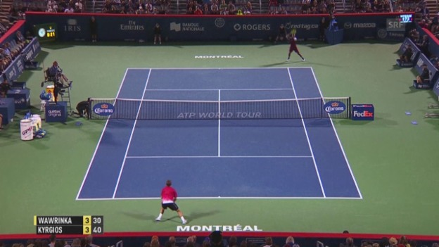Video «Tennis: ATP Montreal, Wawrinka - Kyrgios» abspielen
