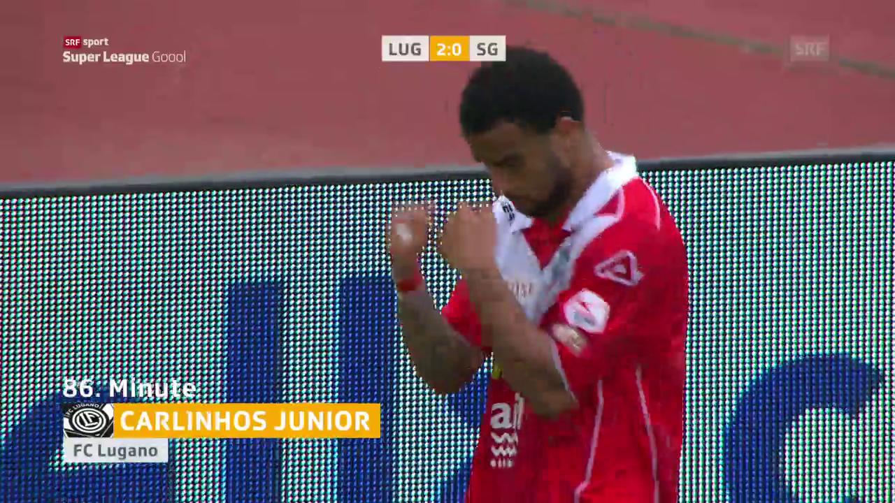 Lugano schlägt St. Gallen mit 2:1